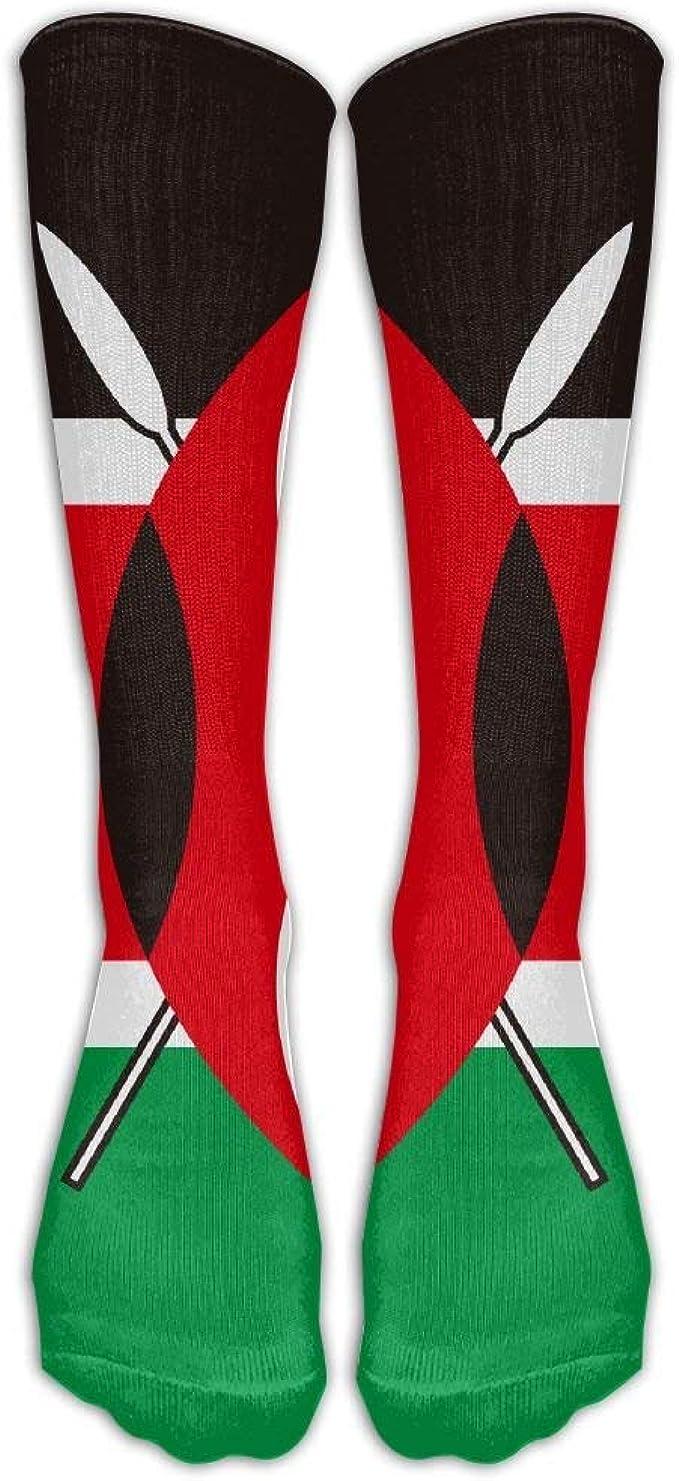 Gorgeous Socks Bandera de Kenia Hombres Mujeres Vestido divertido Trabajo atlético Rodilla larga Medias altas Medias Un tamaño: Amazon.es: Ropa y accesorios