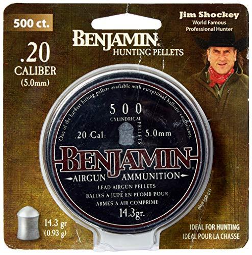 - Benjamin P50 Cylindrical Pellet .20 Caliber, 500 ct