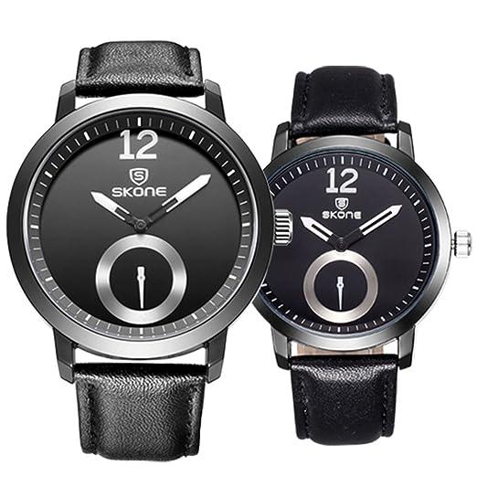 Astarsport - Reloj de pulsera para pareja y mujer, de cuero, para hombres y mujeres, para él y ella, para pareja: Amazon.es: Relojes