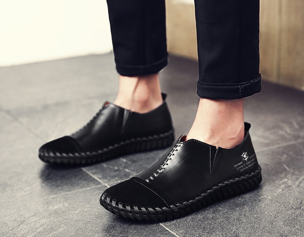 Color : Black, Size : 43 Mens Shoes Leather//PU Flat Loafers Spring//Fall//Winter Comfort Loafers /& Slip-Ons Mens Party /& Evening Driving Shoes