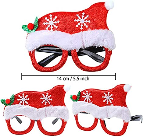 Merry Christmas Tree Glasses Kids Adult Santa Claus Photography Prop Party Decor