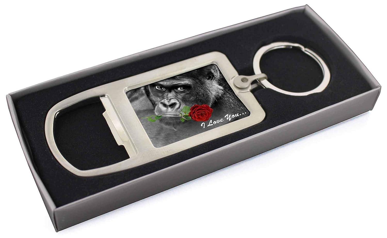 I Love You de gorila con una rosa roja Cromado abridor de ...