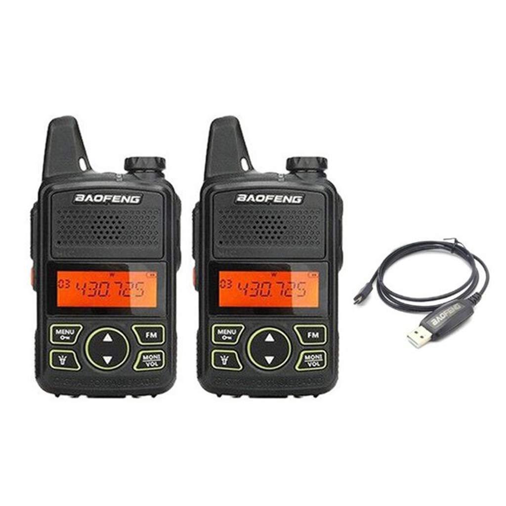 Yuly Two Way Radio BF-T1 Walkie Talkie UHF 400-470mhz 20CH Portable Ham FM CB Radio Handheld Transceiver 2pcs/lot BAOFENG T1 Mini by Yuly (Image #2)