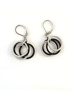 206011d41 Amazon.com: Sea Lily Black Piano Wire Loop Earrings 213: Jewelry