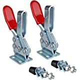 E-TING 2PCS 500lbs Holding Capacity Toggle Clamps Horizontal Quick-Release Handle Toggle Clamp 225D