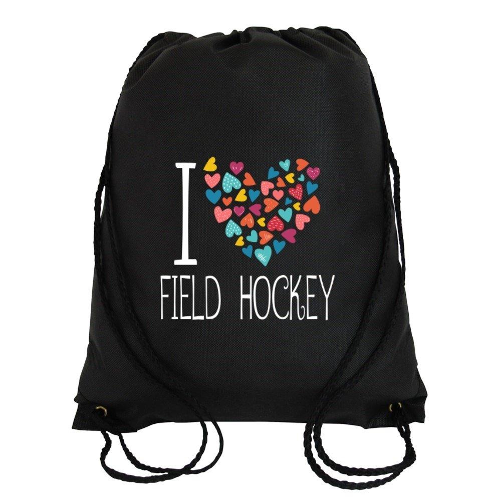 Idakoos I love Field Hockey colorful hearts - Sports - Sport Bag IDKSF8A557560003115986000
