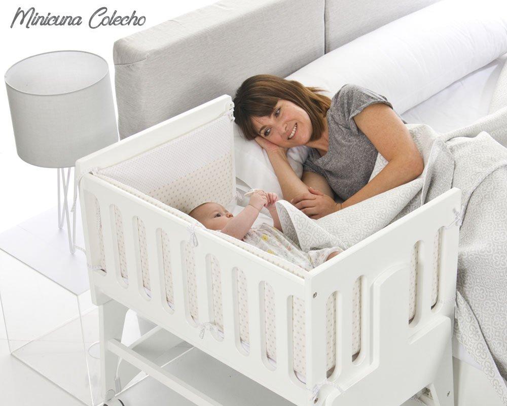 Bolin Bolon Colección 2018 Minicuna colecho Nicola color blanco: Amazon.es: Bebé