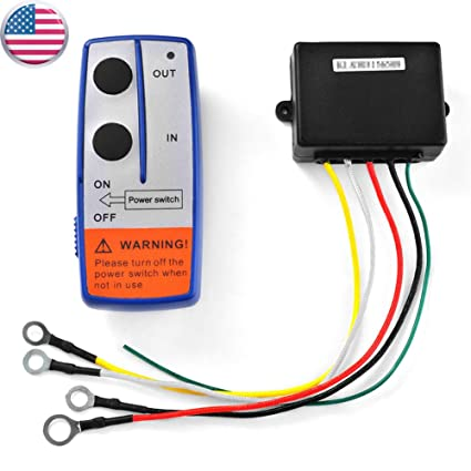 HonsCreat Wireless Winch Remote Control Switch Lift Gate Hydraulic Pump  Dump Bed 12v Recovery Tow Truck V
