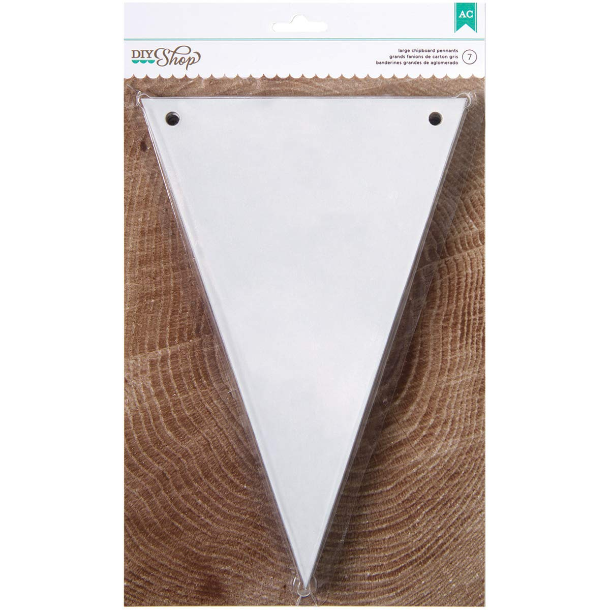 DIY Shop Collection Banners 6 X 9 Pennant Chipboard White (4 Pack)