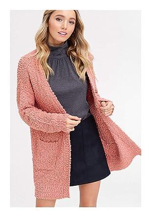 b00fa8a8e237 Amazon.com  Women Popcorn Open Cardigan  Clothing