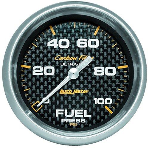 Auto Meter 4863 Carbon Fiber Electric Fuel Pressure Gauge (Carbon Fiber Auto Oil Pressure Gauge)
