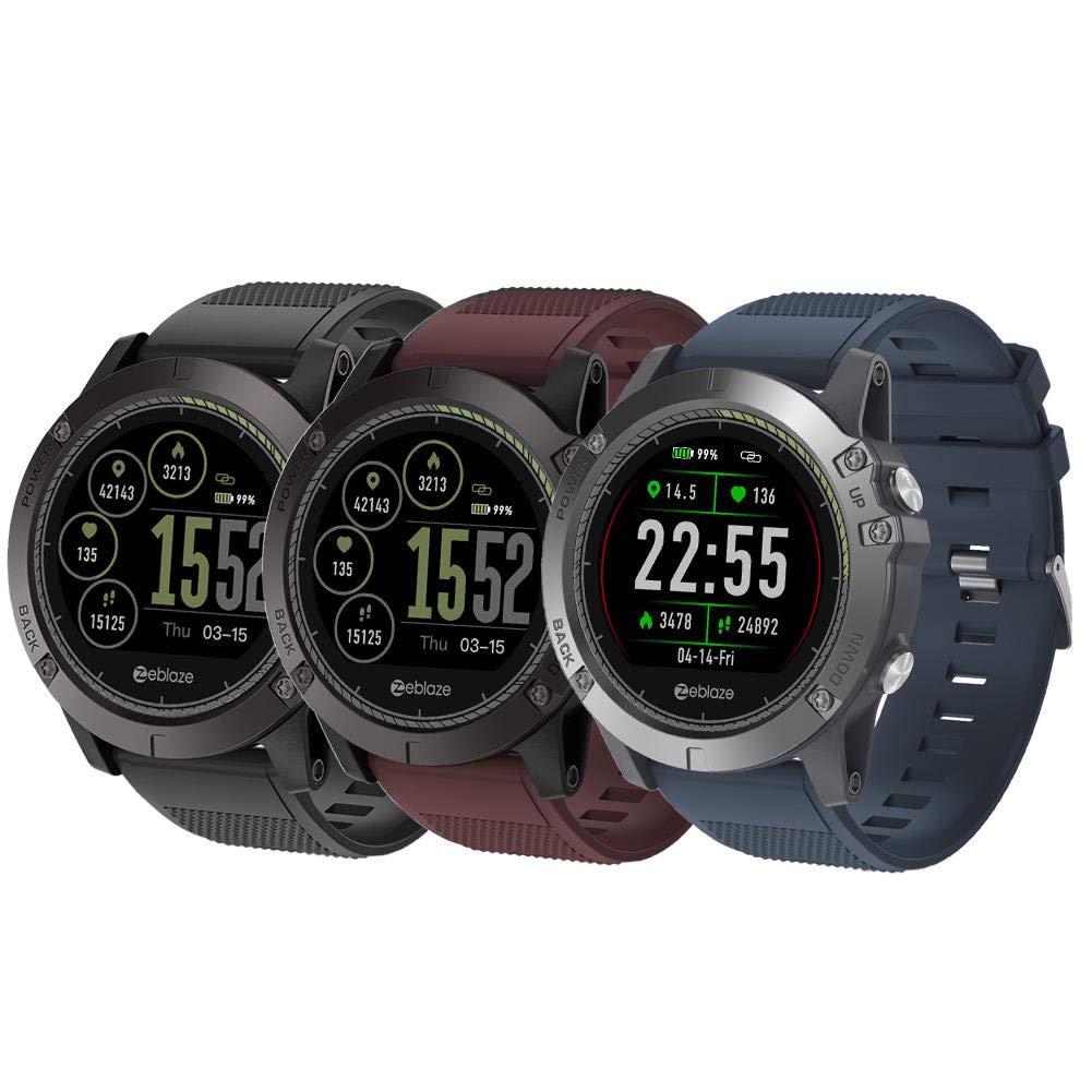 Reloj Inteligente Zeblaze Vibe 3 HR 1.22 Pulgadas Sports Smart Watch Bluetooth 4.0 IP67 Recordatorio a Prueba de Agua HeartRate Monitor Funciones de Presión ...