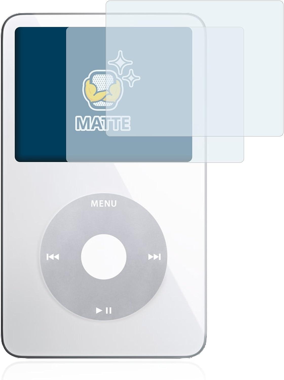 BROTECT 2X Entspiegelungs-Schutzfolie kompatibel mit Apple iPod Classic Video Display Anti-Fingerprint 5. Generation Matt Anti-Reflex