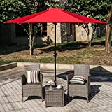 "Iusun Patio Umbrellas Waterproof Corrosion Resistant Home Outdoor Umbrella Cranks 94×104""/Umbrellas Patio Base 17.5×17.5×4.9""(Ship from USA Directly) (Umbrella Crank-Red) Review"