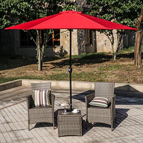 "Iusun Patio Umbrellas Waterproof Corrosion Resistant Home Outdoor Umbrella Cranks 94×104""/Umbrellas Patio Base 17.5×17.5×4.9""(Ship from USA Directly) (Umbrella Crank-Red) Review"