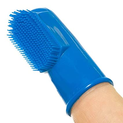 sanvan alimentos grado silicona Pet cepillo de dientes dedo, Cat & Dog Dedo Cepillo De
