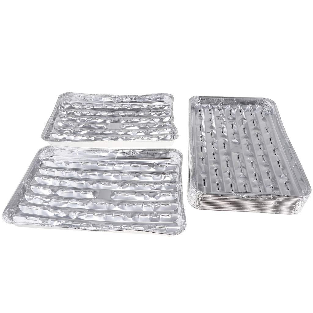 Fenteer Barquette Plateau BBQ Accessoire Cuisine Moules Jetable Casseroles /à Papier Aluminium