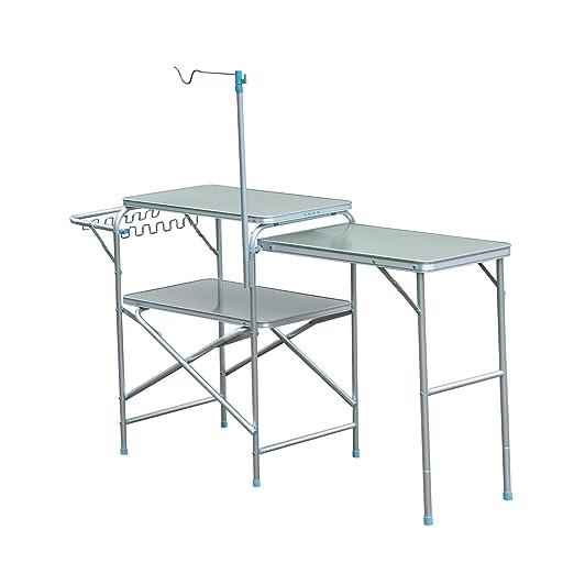 Mesa Extensible para Camping o Cocina, Mesa de Picnic de Aluminio ...