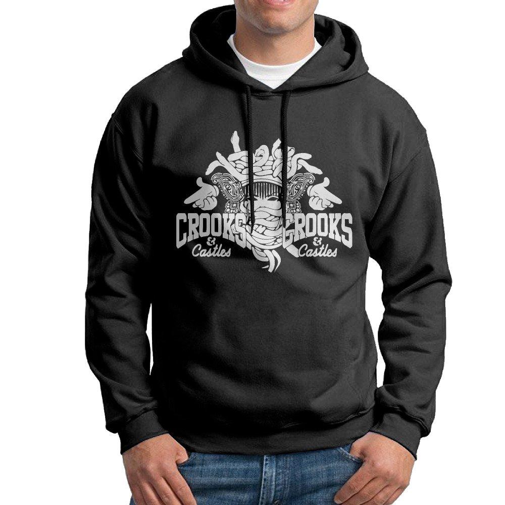 GTSTCHD Men's Crooks & Castles Fleece Hoodie Black L