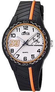 Lotus Marc Marquez, edición Junior 2014. Reloj Infantil de Cuarzo con Esfera Blanca y