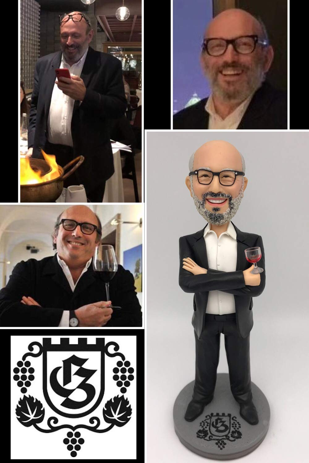 Fully Custom Bobblehead Figurine Personalized Boss Gift Husband Gift Retirement Gifts Based on Your Photos for New Year, One person, DHL Expedited Shipping Service