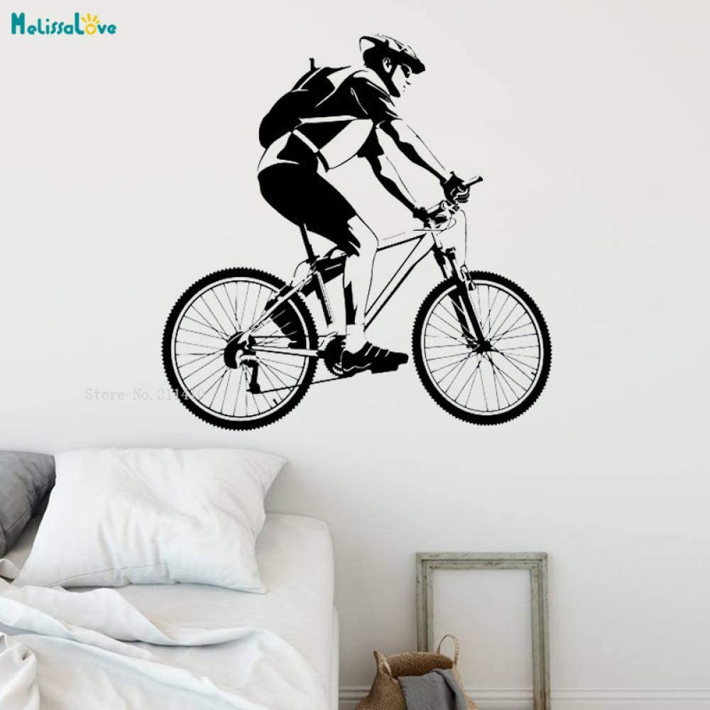 jiushixw Calcomanías de Pared de Viaje en Bicicleta de Larga ...