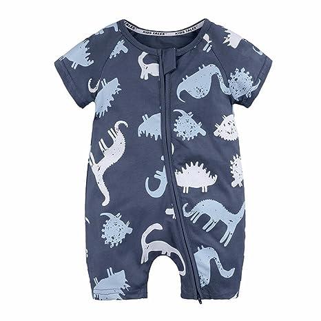 Ropa bebe recién nacido, ❤ Amlaiworld Niño recién nacido Niños Bebés Niñas Dinosaurio Cremallera