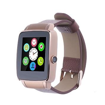 TOKUYI ® Bluetooth Smart X6 Watch-Reloj inteligente de tarjetas SIM multifunción con soporte para