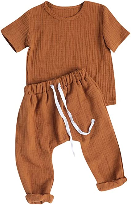 Infant Baby Girl Cartoon Jumpsuit Romper Short Sleeve Tops Pants Outfit SL