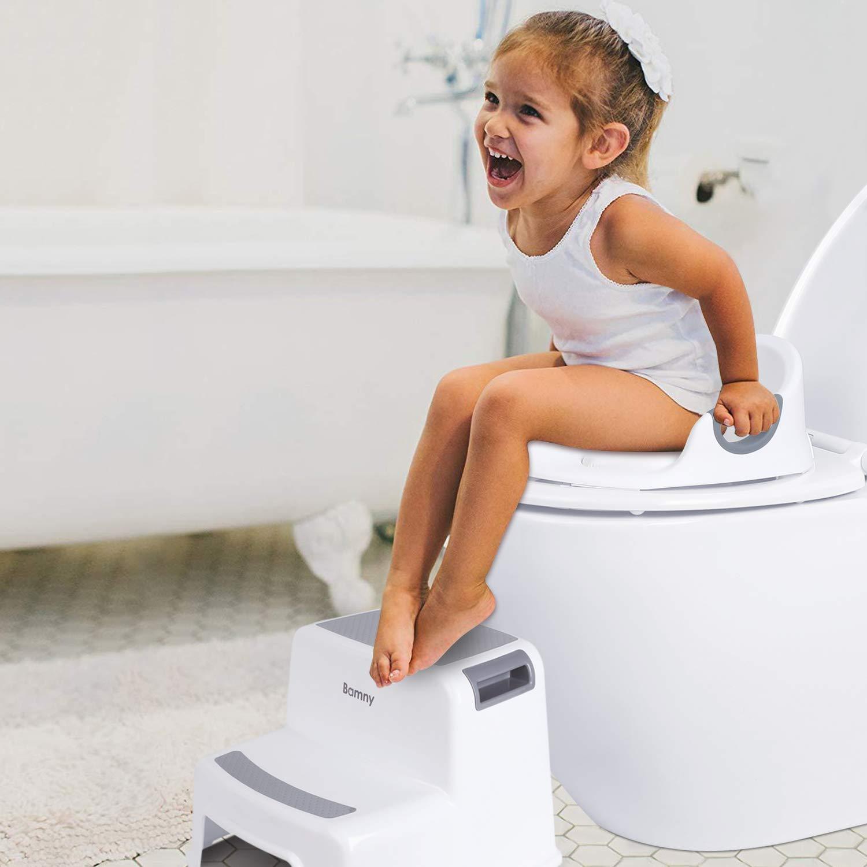 RAILONCH Toiletten WC Trainer Sitz Kinder T/öpfchen Training Spritzschutz Bequemer runder Griff Toilettentrainer f/ür Kleinkinder Pink