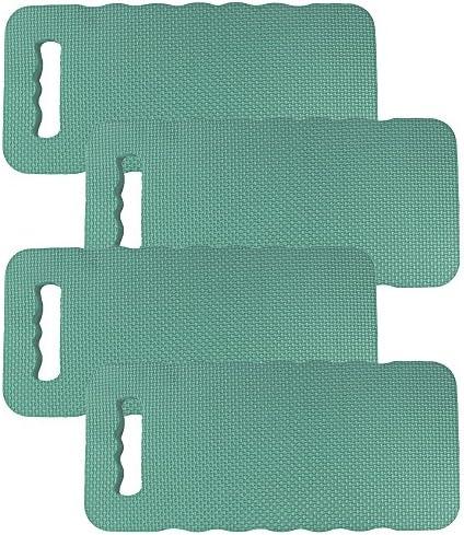 com-four® 4X Kniekissen - Zum Schonen Ihrer Knie - für den Garten, das Haus, in der Freizeit oder für Arbeiten am Auto (4 Stück - Kniekissen)