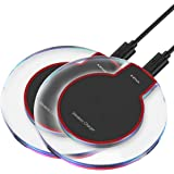 2 Pack - Wireless Charger, R.B Wireless Charging Pad for Samsung Note 8, S8/S8 Plus/S7/S7 Edge/S6, Apple iPhone 8/8 Plus, iPhone X, Nexus 7/6/5/4, Nokia Lumia 920, LG Optimus Vu2, and More
