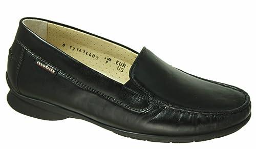 Mobils - Pantuflas y Mocasines Mujer, Color Negro, Talla 36 FR: Amazon.es: Zapatos y complementos
