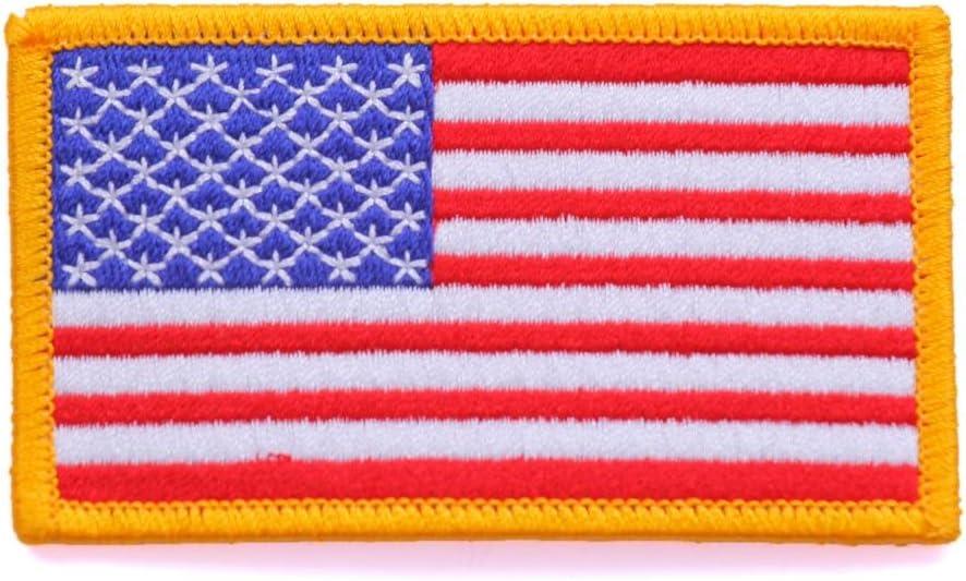 parche bandera america parches para ropa parches termoadhesivos parches bordados 7,5 cm: Amazon.es: Hogar