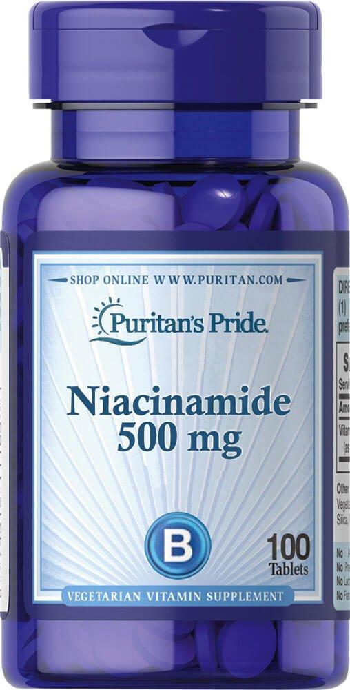Puritan's Pride Niacinamide 500 mg-100 Tablets