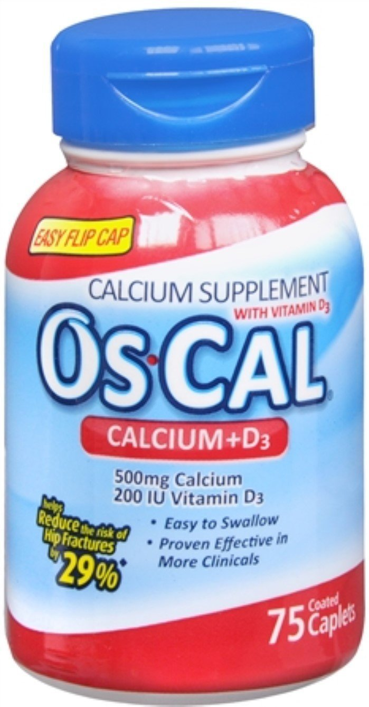 Os-Cal 500+D Caplets 75 Caplets (Pack of 2)