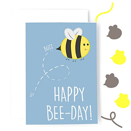 Cute Birthday Card Funny Pun Card Buzzing Birthday Bee Day