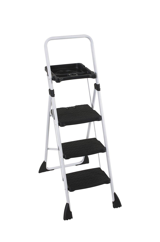 Cosco step stool chair - Cosco 11 744cbw2 Tri Step Plus Work Platform Stepladders Amazon Com