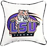 MWW Manual Collegiate Tapestry Throw Pillow, 17 quot;, Louisiana State University Tigers