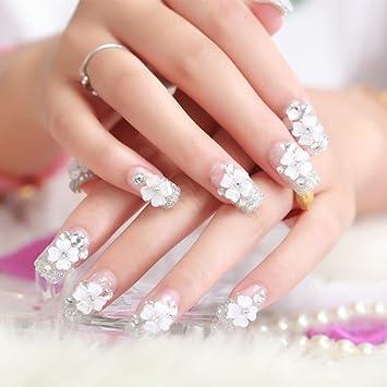 Amazon Com False Nails 24 Pcs 12 Sizes Shining Bride Manicure