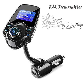 Transmisor FM Bluetooth Coche Manos Libres con Cargador USB ...