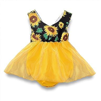 Falda tutú para bebé y niña, diseño Floral, Malla Amarilla de Tul ...