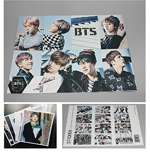 BTS Bangtan Boys - 12 Photo Posters + 1 Sticker + 5 Photos