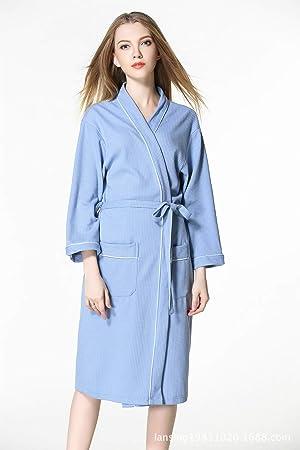 Albornoz para Mujer Suave Absorbente y cómoda Batas de baño Amantes Batas para Gimnasio Ducha SPA Hotel Robe Holiday (Color : 1, tamaño : S): Amazon.es: ...