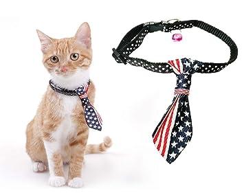 Briller Collar de Gato con Campanas Corbata de Perro Pajarita ...