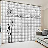 Sproud 3D Blackout Curtains Fashion Lifelike Refined 3D Curtains Artistic Life Bedroom Living Room Drapes 240Dropx380Wide(Cm) 2 pieces