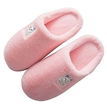 Qiusa Zapatillas de Dibujos Animados Mujer Gato cálido Invierno algodón Zapatos (Color : Rosado, tamaño : EU38/39): Amazon.es: Hogar