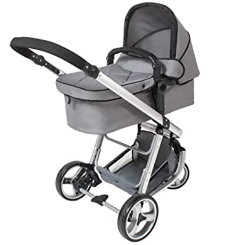 Tectake 3 In 1 Pushchair Stroller Combi Stroller Buggy Baby Jogger Travel Buggy Kid S Stroller Different Colours Grey