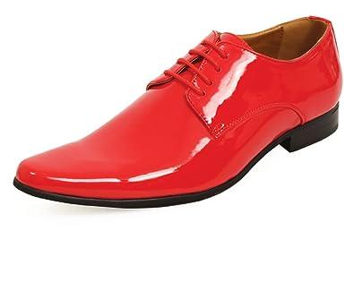 Chaussures Rouge Style Homme Vernies Habillées Contemporain Dobell SVpMqUz