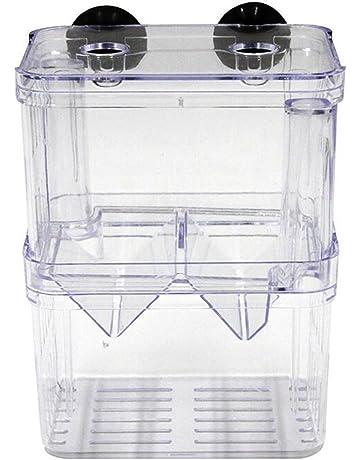 UEETEK Caja de cría aislamiento de peces de acuario criadero criador incubadora caja